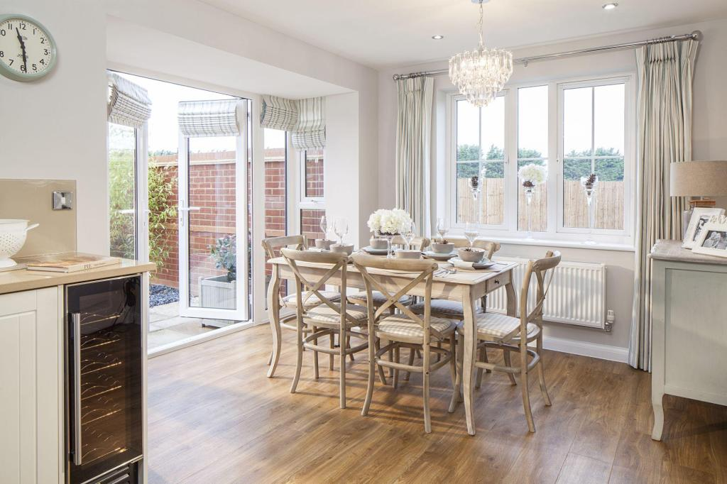 Typical Morpeth dining area with French doors