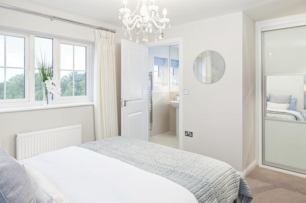 Typical Morpeth master bedroom with en suite