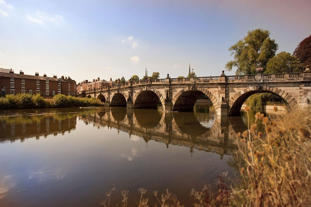 The English Bridge in Shrewsbury