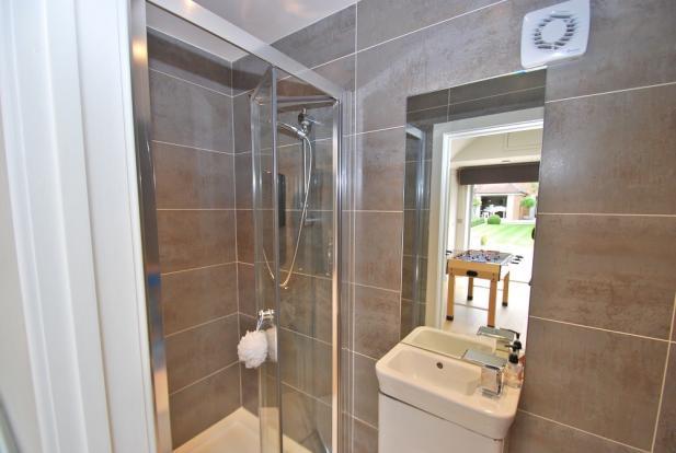 Garden room shower