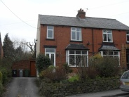 semi detached house in Buxton Old Road, Disley...