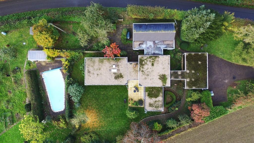 Aerial shot of pl...