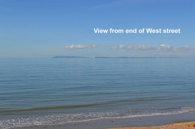 Sea view from end of