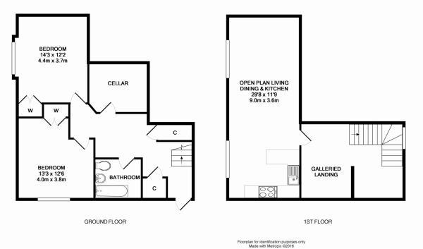 @plan 2bed house.JPG