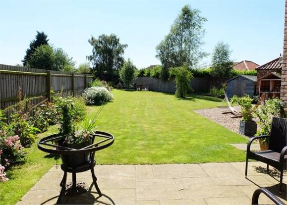 Rear garden from the patio