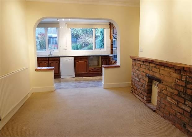 View dining room through to kitchen
