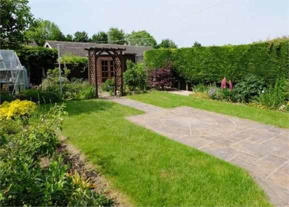 Another view of the rear garden