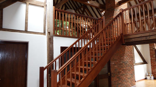 Staircase to Galleried Lounge