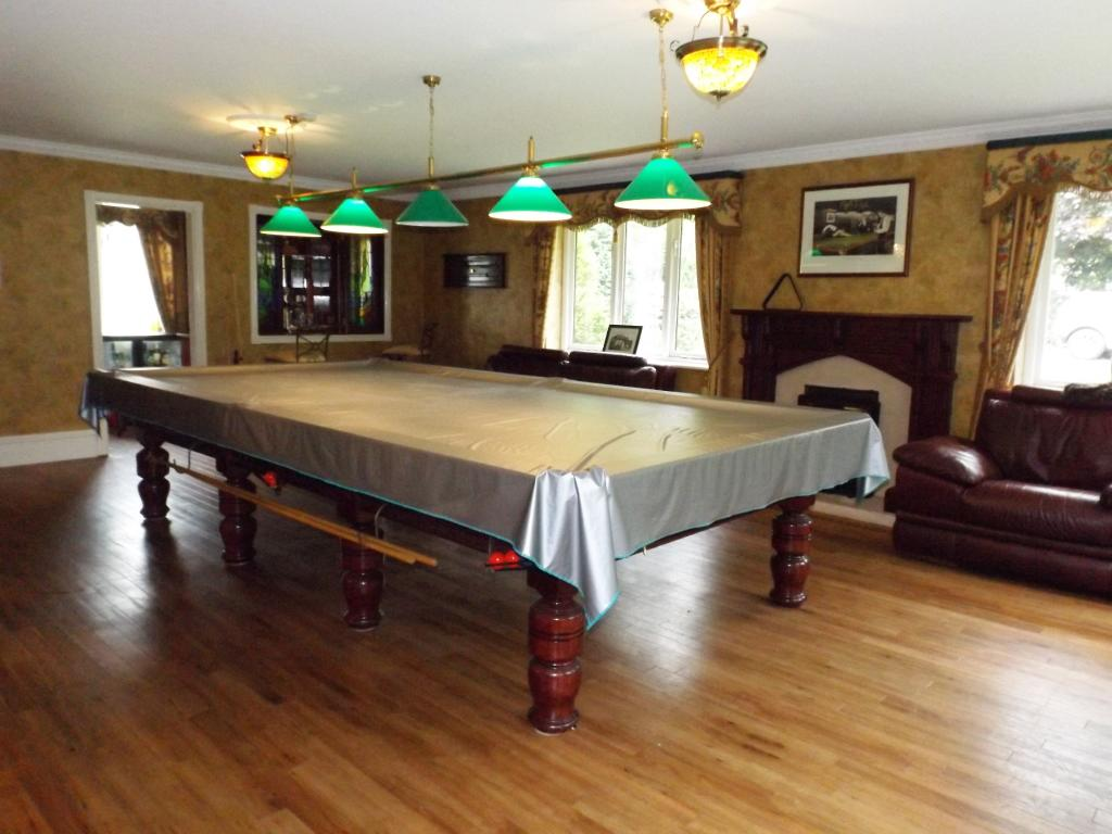 Snooker and bar room