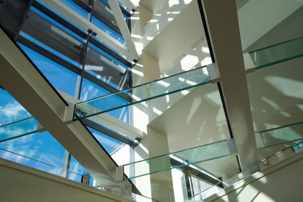 Feature glass wall