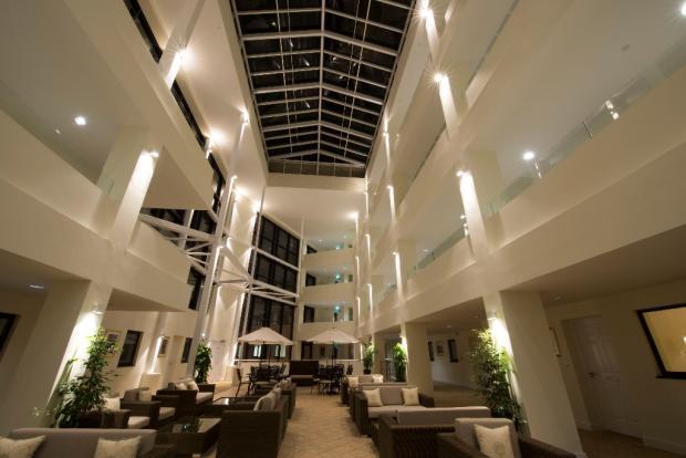 Atrium at nightfall