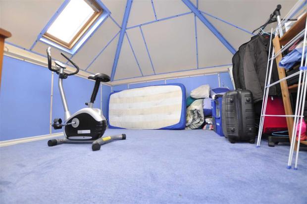 Boarded loft space