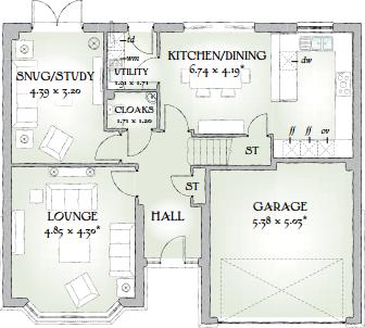 5 bedroom detached house for sale in northampton lane for Marlborough house floor plan