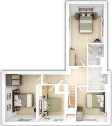 The Langdale first floor plan