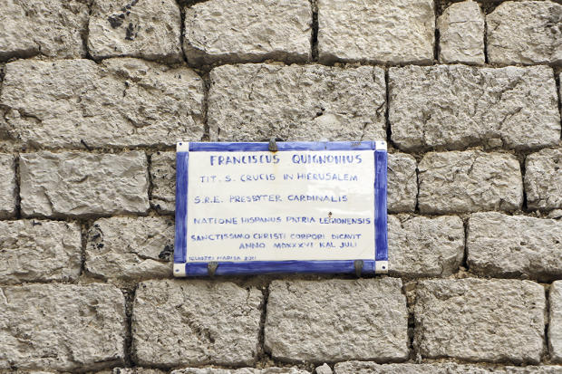 Plaque on wall