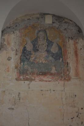 Fresco on staircase