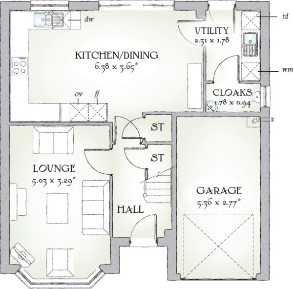 4 bedroom detached house for sale in okehampton road for Oxford floor plan