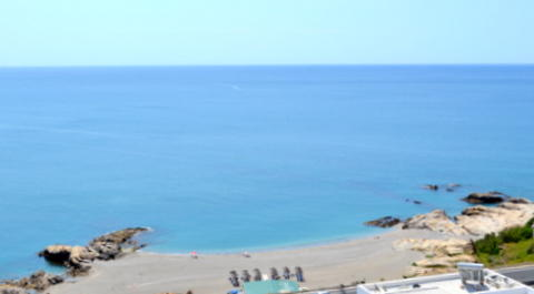 View over beach