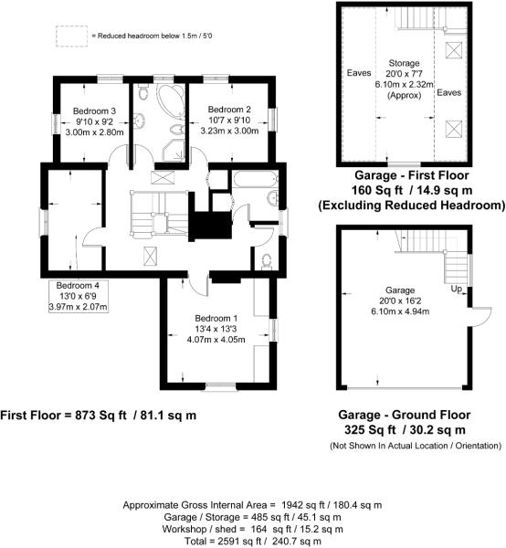 Second floor plan and Garage