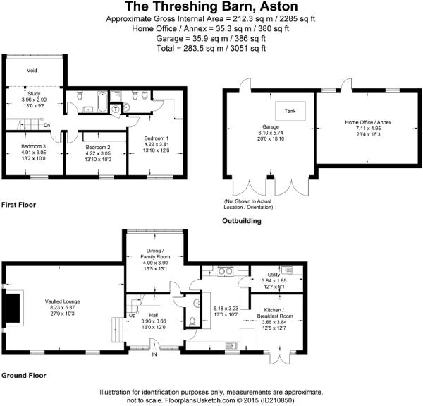 Floor plan showing Annex & Garage