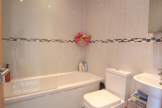 Tiled Family Bathroom with shower