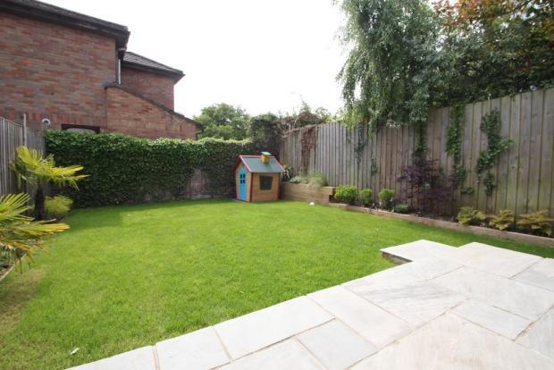 Private south facing rear garden