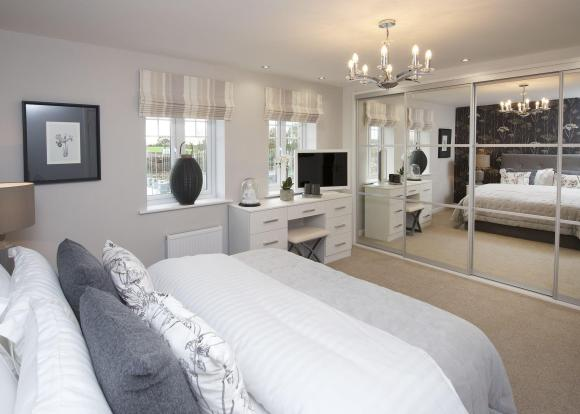 Double bedroom with wardrobes