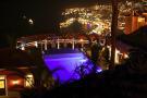 Forum pool at night