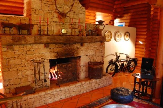 Main house fireplace