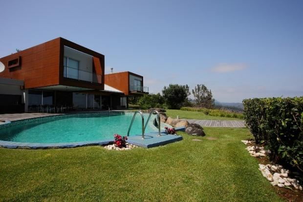 South elev + pool