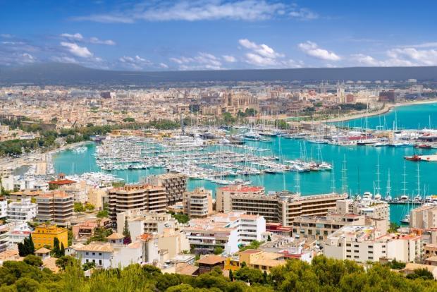 Aerial view of Palma
