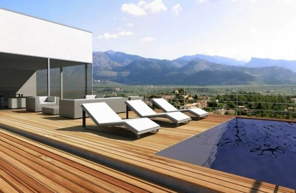 terrace with pool an