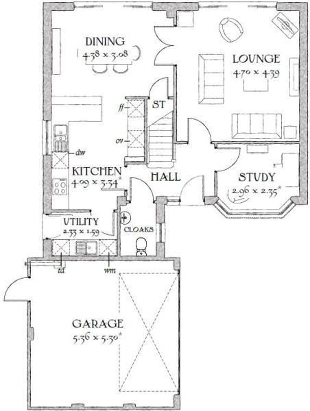 Redrow house floor plans house design plans Canterbury floor plan