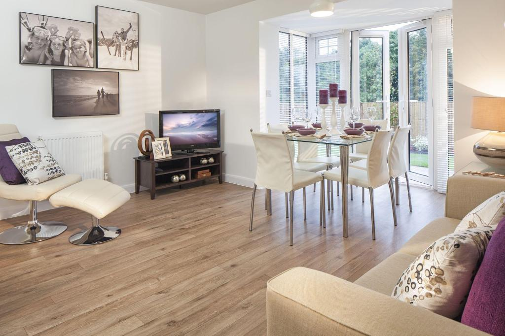 Kitchen, dining and family area