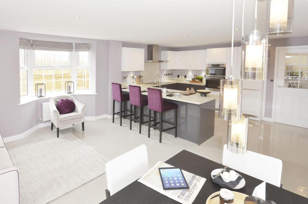 Kitchen with breakfast and family areas