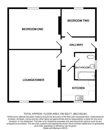 floorplan Flat 2 62 Church Street