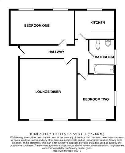 floorplan Flat 4 62 Church Street