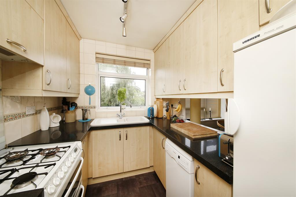 Kitchen with hatch to dining area