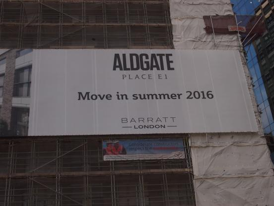 Aldgate Place Sign