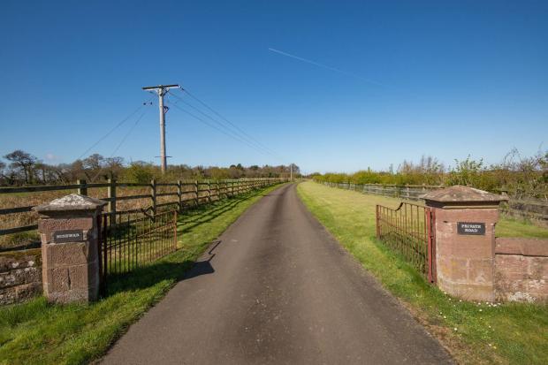 Private Road Entranc