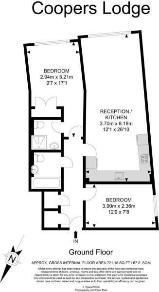 Flat 7, Coopers Lodge, Three Oak Lane
