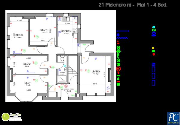 Flat 1, Floor Plan