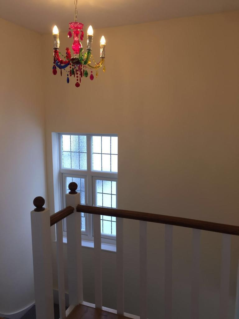 Upstairs landing with large window