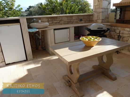 Summer kitchen area