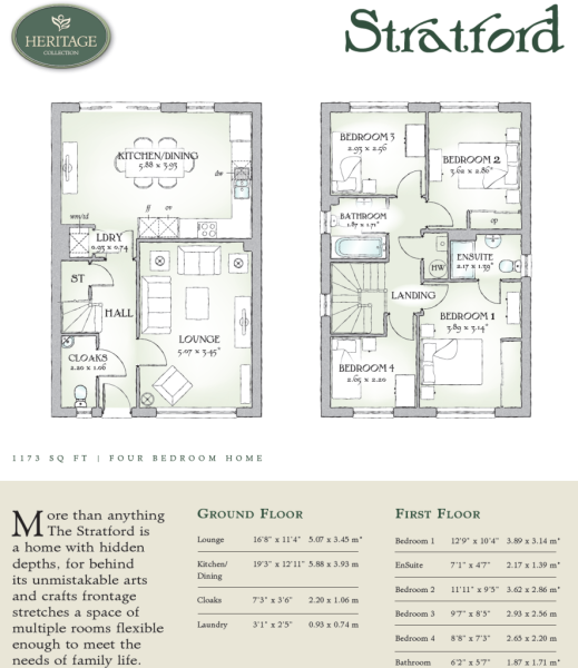 4 bedroom detached house for sale in royal british legion for Stratford homes floor plans
