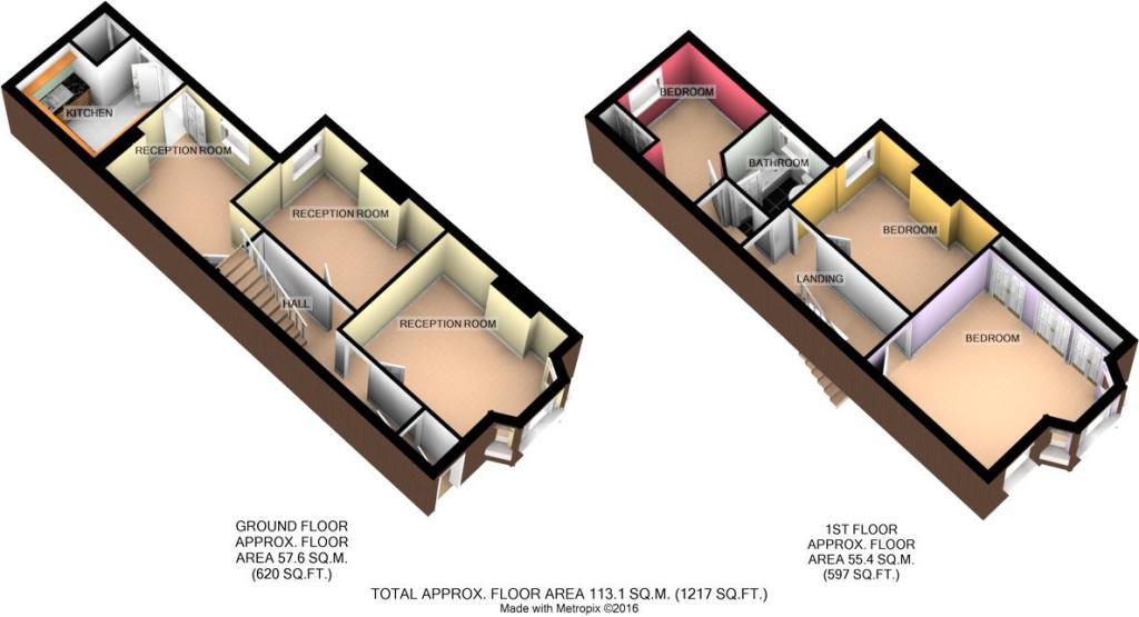 3-D floor plan