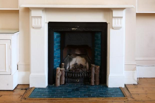 RECEPTION FIREPLACE