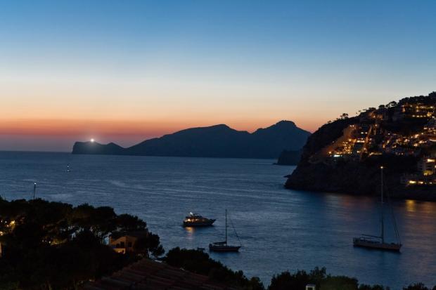 Night sea views