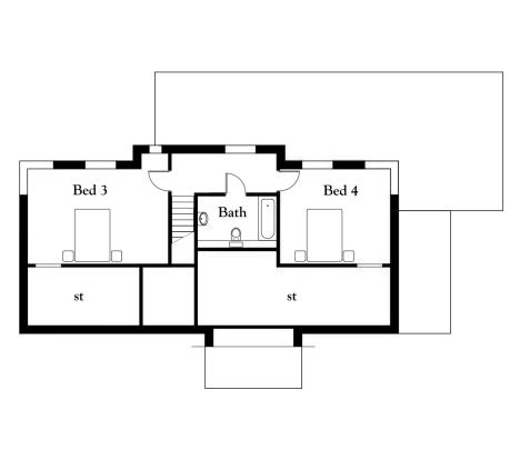 Floor plan second fl