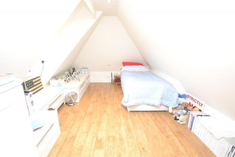 photo of beige white loft conversion